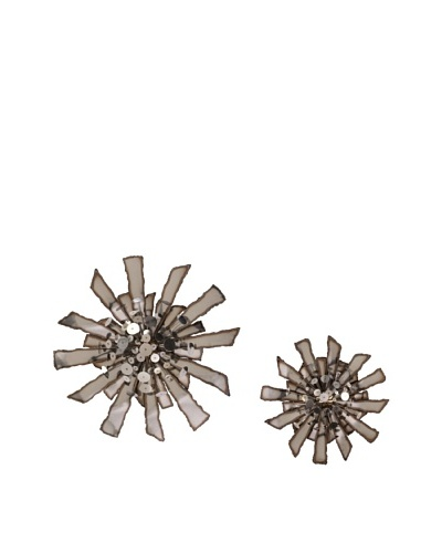 C'Jere Set of 2 Barrage 3- Dimensional Wall Sculptures