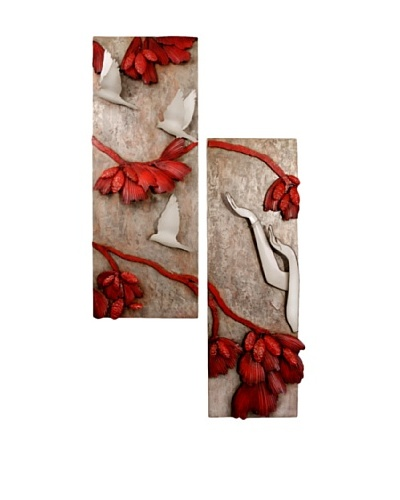 "C'Jere Set of 2 ""Release"" 3- Dimensional Wall Sculptures"