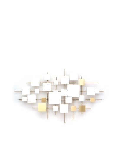 C'Jere by Artisan House Multiples Mirror Wall Sculpture with Reflective Brass Accents