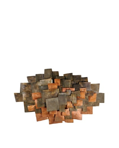 C'Jere by Artisan House Integrate Copper-Plated Steel Wall Sculpture