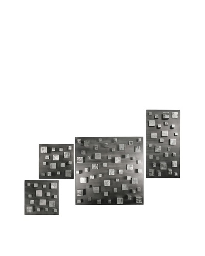 "C'Jere by Artisan House 4-Piece ""Building Blocks"" Welded Steel Wall Installation"