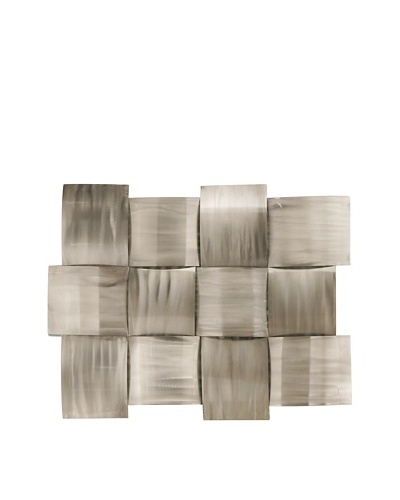 C'Jere by Artisan House Set of 2 Silver Sheen Ground Steel Wall Installation