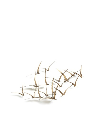 C'Jere by Artisan House Seagulls II Brushed Brass Wall Sculpture