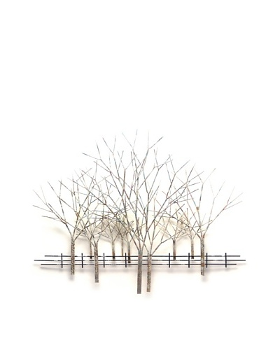 """C'Jere by Artisan House """"Winter Orchard"""" Hand-Painted Steel Wall Sculpture"""
