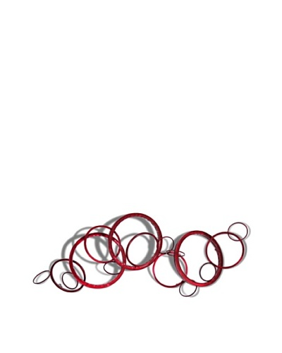 C'Jere by Artisan House Contingent Hand-tinted Steel Wall Sculpture, Red