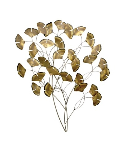 C'Jere by Artisan House Gingko Tree Standard Stainless Steel Wall Sculpture