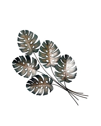 "C'Jere by Artisan House ""Philodendron"" Cold Rolled Steel Wall Sculpture"