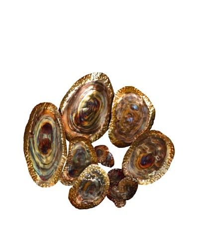 C'Jere by Artisan House Abalone Shells Flame-Treated Wall Sculpture