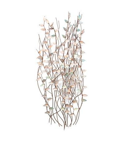 C'Jere by Artisan House Greenbrier Hedge Hand-Painted Copper Wall Sculpture