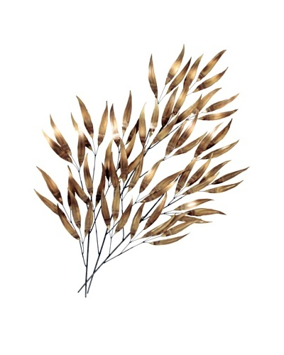 C'Jere by Artisan House Eucalyptus Brass Wall Sculpture