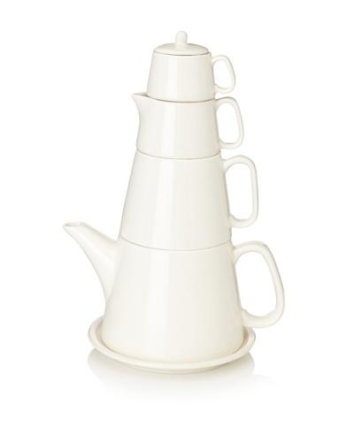 Classic Coffee & Tea Tower Tea Set [Natural Cream]