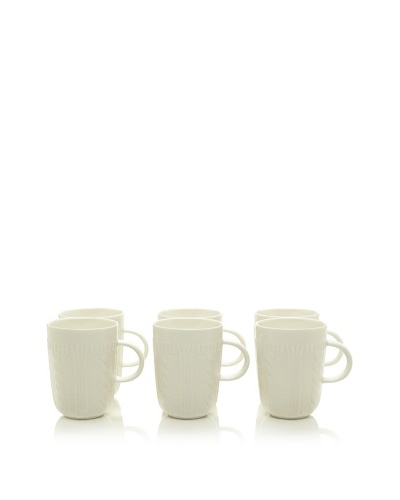 Classic Coffee & Tea Set of 6 Sweater Collection 14-Oz. Mugs