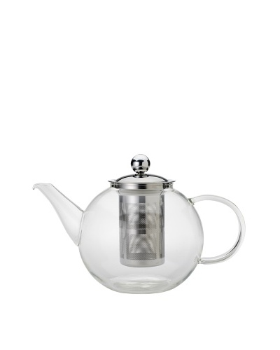 Classic Coffee & Tea Glass Teapot with Infuser, 40-Oz.