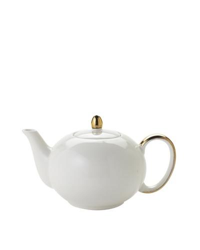 Classic Coffee & Tea Teapot, Cream, 10-Oz.