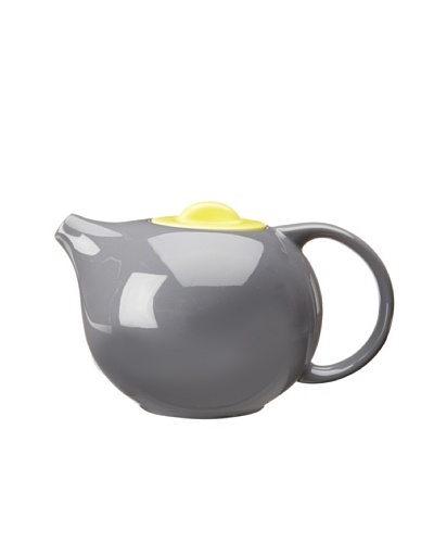 Classic Coffee & Tea Botero Tea Pot With Infuser, Dark Grey/Yellow