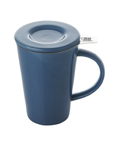 Classic Coffee & Tea Set of 4 Mugs with Stainless Steel Filters [Blue]