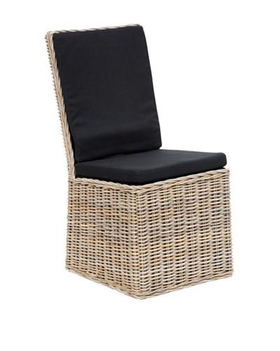 Classic Home Anya Chair with Rollers, Kubu Grey/Black