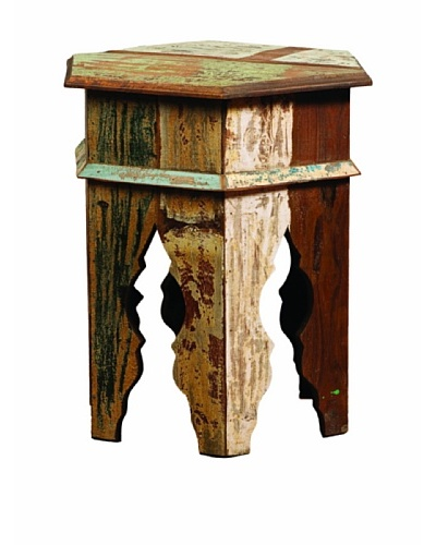 Classic Home Vintage MC Octagonal Table, Multi