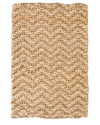 Classic Home Herringbone Hand-Spun Jute Rug [Gold]