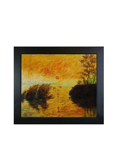 Claude Monet Le Coucher Du Soleil La Seine