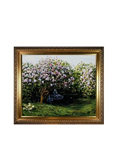 Claude Monet Resting Under the Lilacs