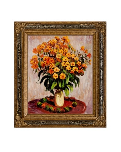 Claude Monet Vase of Chrysanthemums