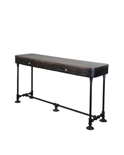 Coast To Coast 2-Drawer Console, Brown