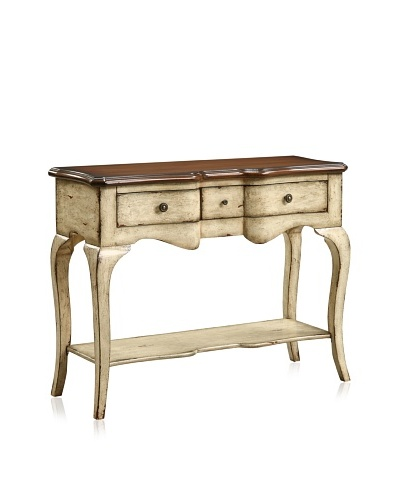 Coast to Coast 3-Drawer Console Table, Callands Cream Finish