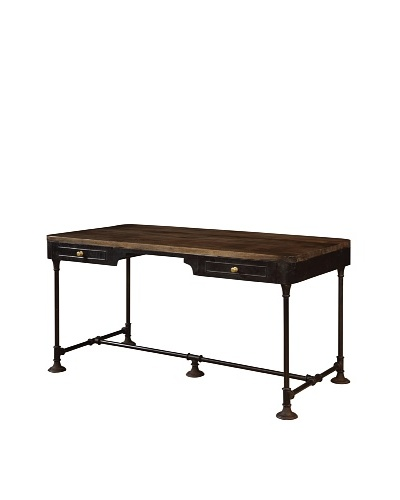 Coast To Coast 2-Drawer Accent Desk, Brown