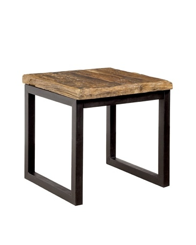 Coast to Coast Railroad Wood & Iron End Table