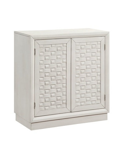 Coast to Coast Basketweave Cabinet, Antique White