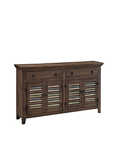 Coast To Coast 2-Drawer 4-Door Credenza, Brown