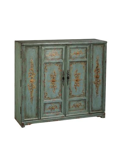Coast to Coast Bi-Fold Door Cabinet, Light Green