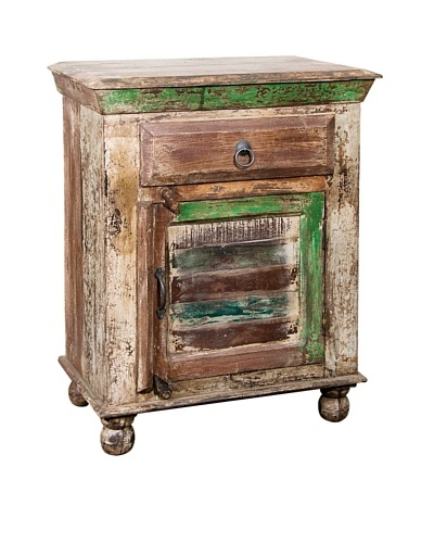 Coast to Coast Single-Drawer Reclaimed Wood Accent Table, Multi