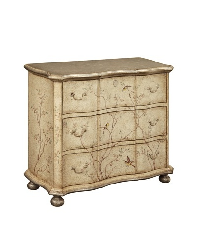 Coast to Coast Floral Bird Chest, Tan