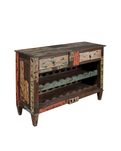 Coast To Coast Reclaimed Accent Chest with Wine Storage