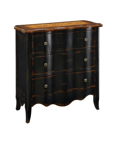 Coast to Coast 3-Drawer Chest, Black/Brown