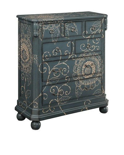 Coast to Coast Floral 7-Drawer Chest, Blue