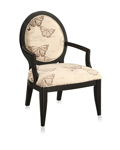 Coast to Coast French Accent Chair, Black