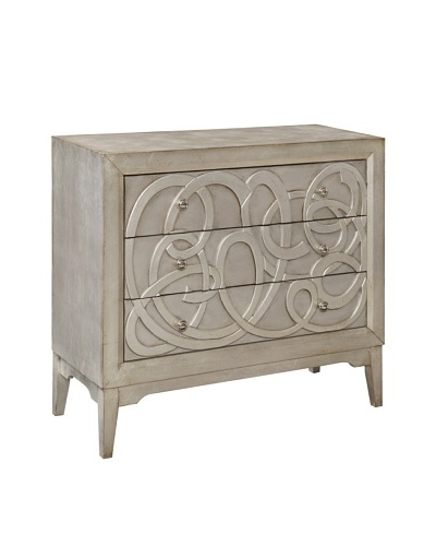 Coast To Coast Nixon 3-Drawer Chest, Silver