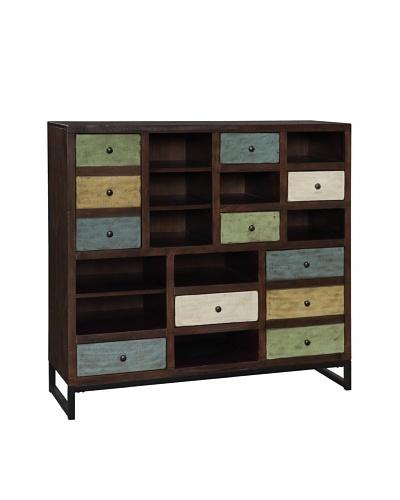 Coast To Coast Arlington 5-Drawer 2-Door Bookcase, Brown/Multi