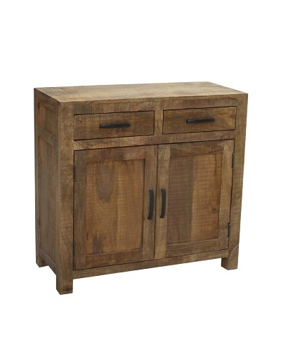 Coast To Coast 2-Drawer 2-Door Cabinet, Natural Mango