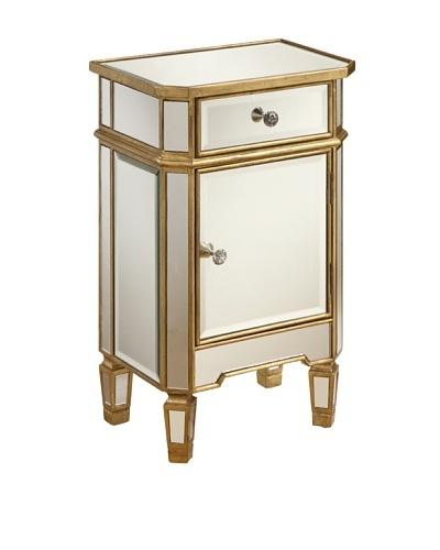 Coast to Coast One Drawer One Door Mirrored Cabinet