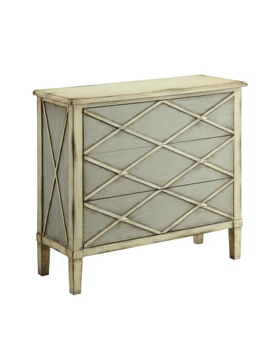 Coast to Coast Lattice 3-Drawer Chest, Tan