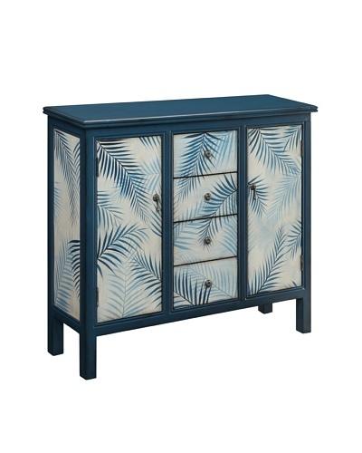 Coast to Coast Framed Palm Cupboard, Blue/White