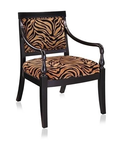 Coast to Coast Tiger-Print Chair Frame, Zebra/Black