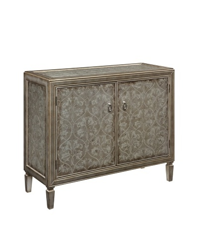 Coast to Coast Scroll 2-Door Cabinet, Beige