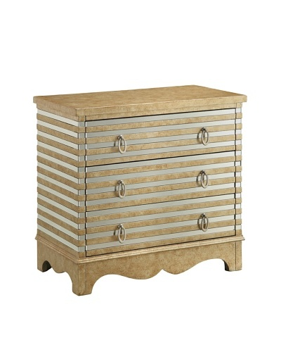 Coast to Coast Sarsdale 3-Drawer Chest, Golden