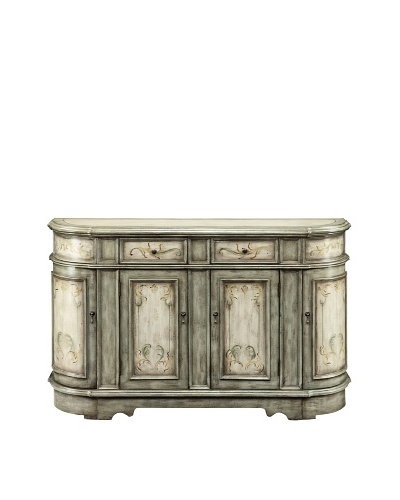 Coast to Coast Scroll Credenza, Beige