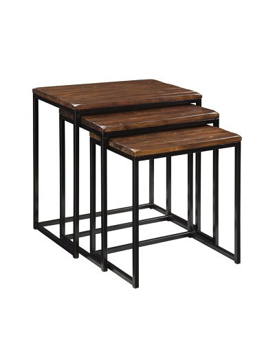 Coast to Coast Nested Tables, Black/Brown